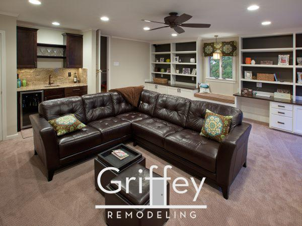 Upper Arlington, Ohio family room remodel